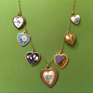 Vintage Handmade Heart Charm Necklace